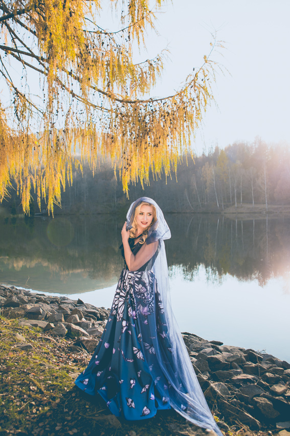 #SinestezicQueens - Cristina Ioan - Sinestezic - Rochie de seară personalizată cu imprimeu