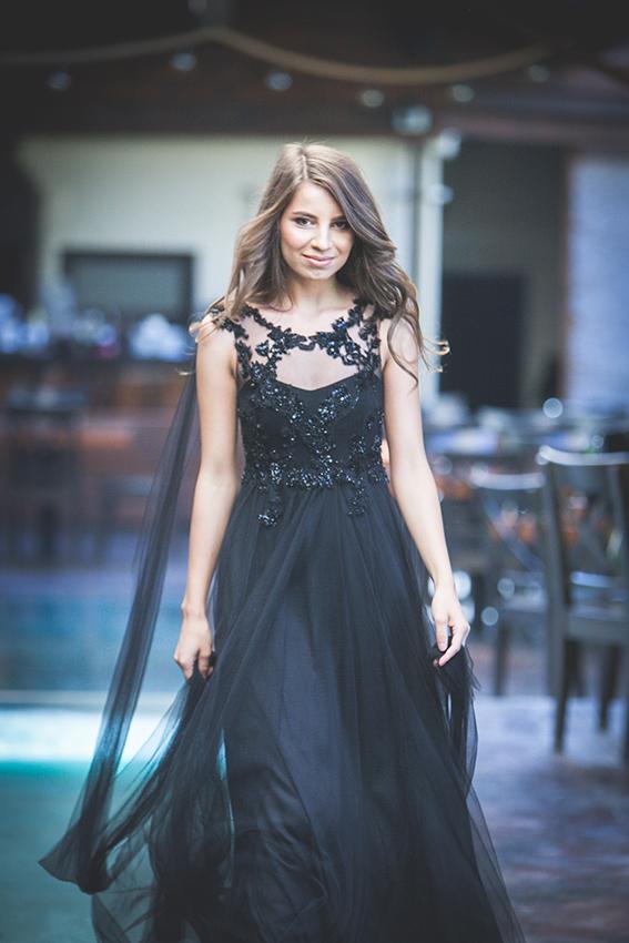 #SinestezicQueens - Rebeca Bîrle - Sinestezic - Rochie de seară neagră