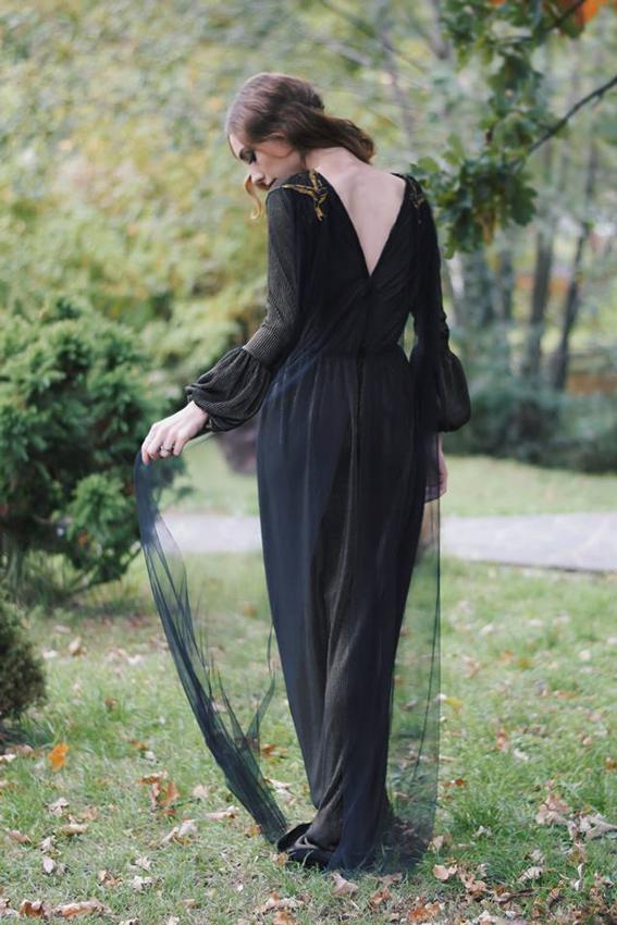 #SinestezicQueens - Mădălina Zlampareț - Sinestezic - Rochie de seară personalizată cu broderie