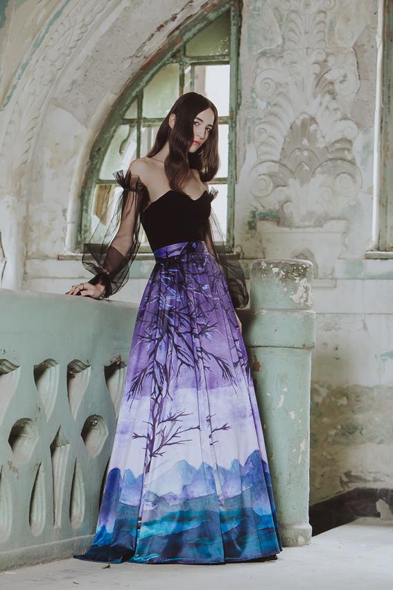 #SinestezicQueens - Vanesa Svoboda - Sinestezic - Fustă personalizată cu imprimeu