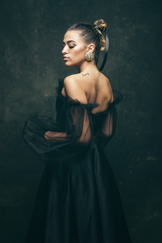 Fusta neagra cu corset negru - #SinestezicQueens - Sinestezic