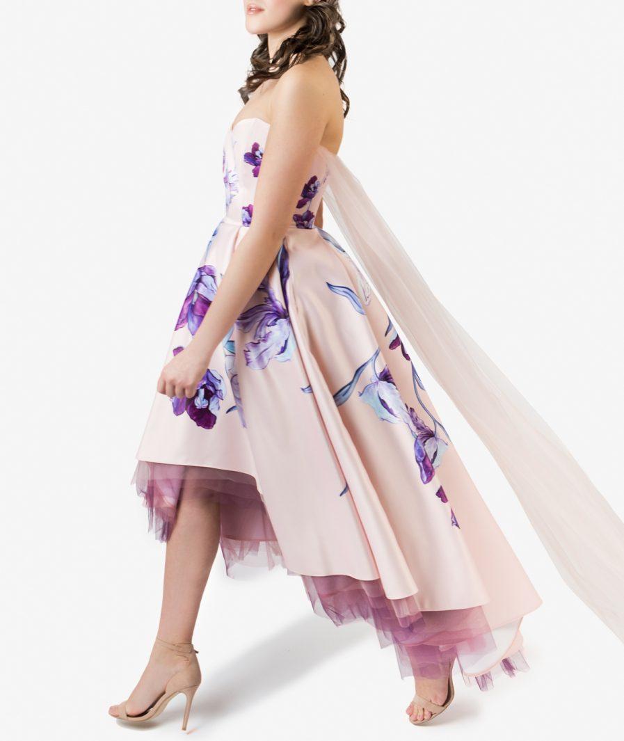 Sinestezic designer vestimentar roman | Rochie de zi cu imprimeu floral | Rochie de zi personalizata | Rochie de zi unicat | Rochie de zi Daydream