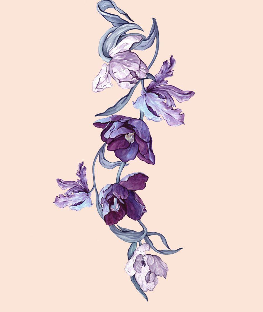 Sinestezic | Imprimeu floral pentru rochie de zi Daydream