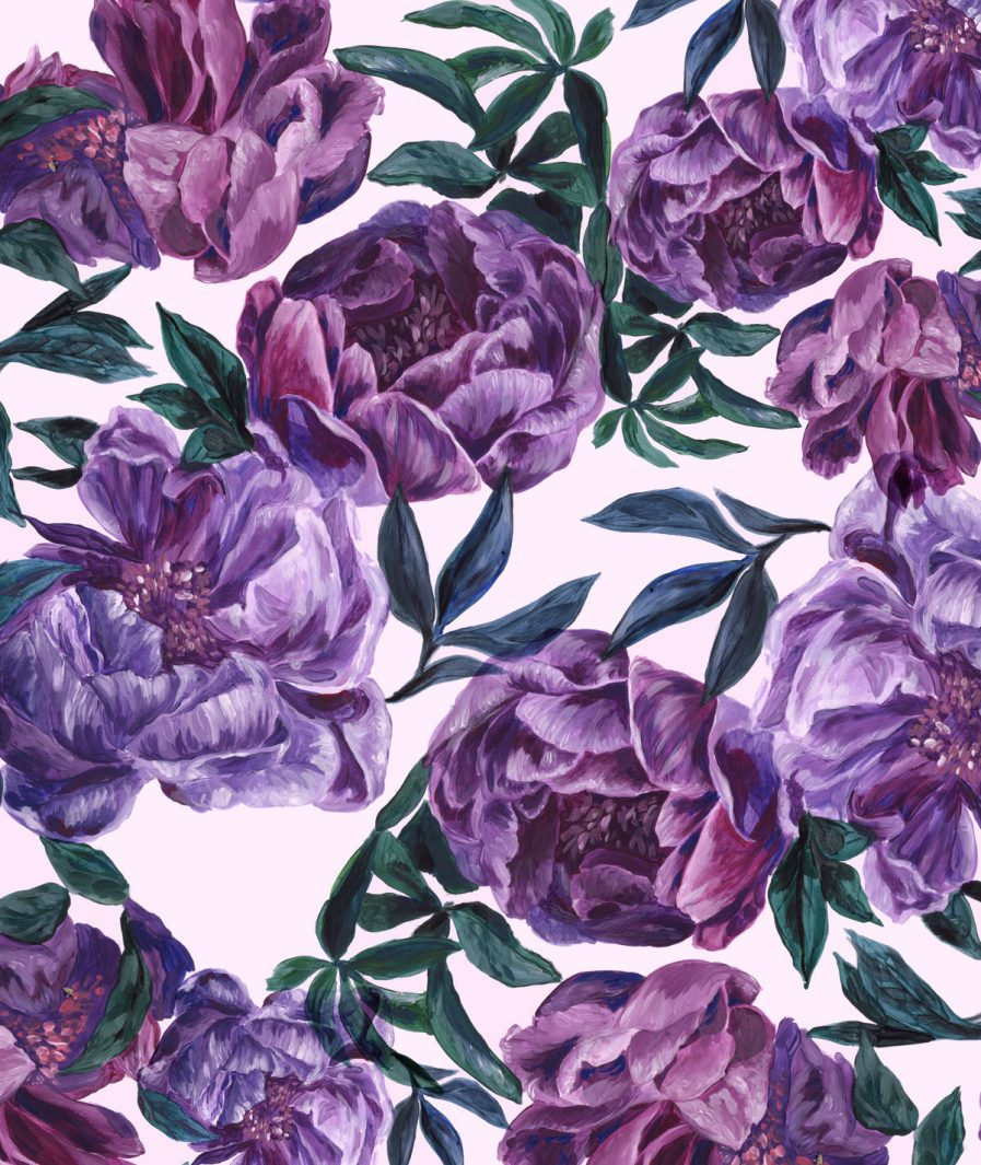 Imprimeu floral Sinestezic pentru rochie de seară Hidden Garden