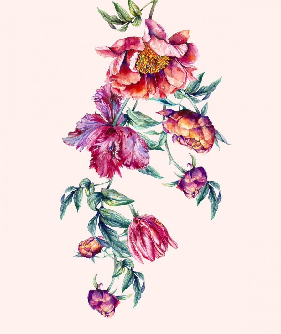 Imprimeu floral Sinestezic pentru rochie de seară Scented Dream