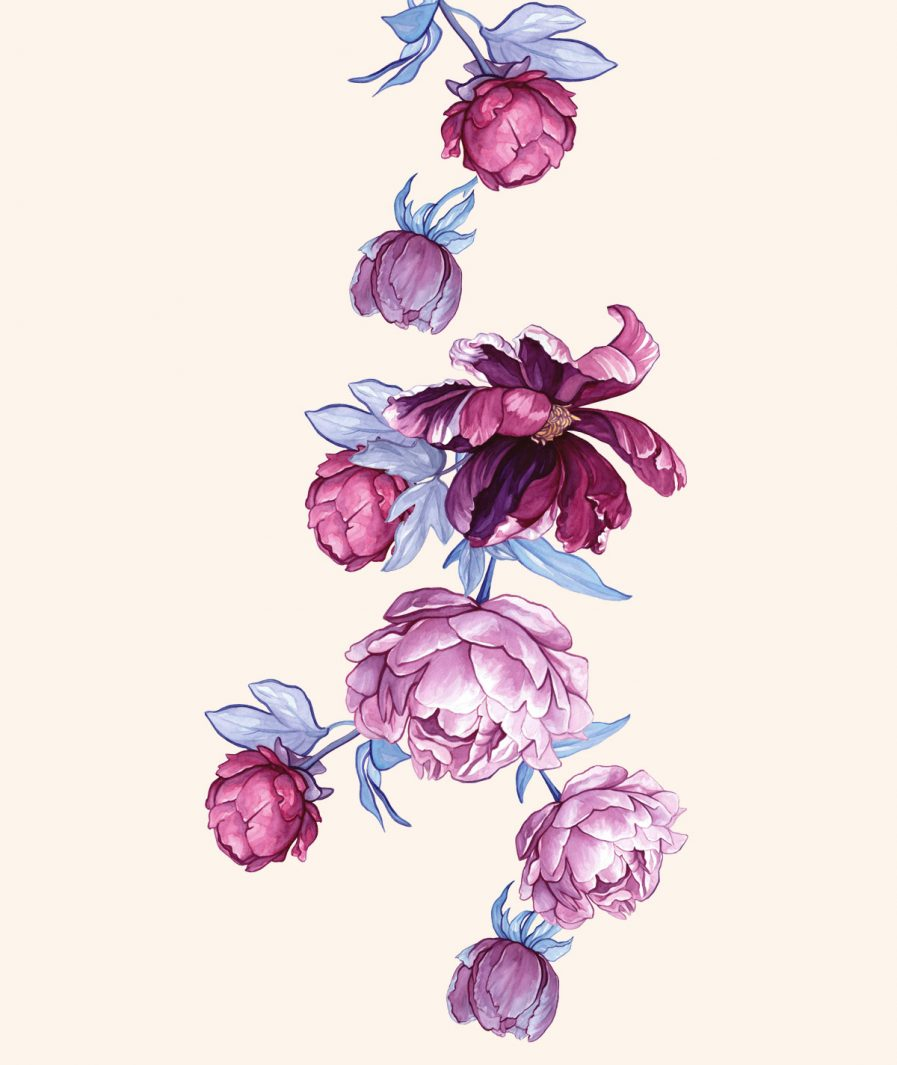 Imprimeu floral Sinestezic pentru rochie de seară Serenity