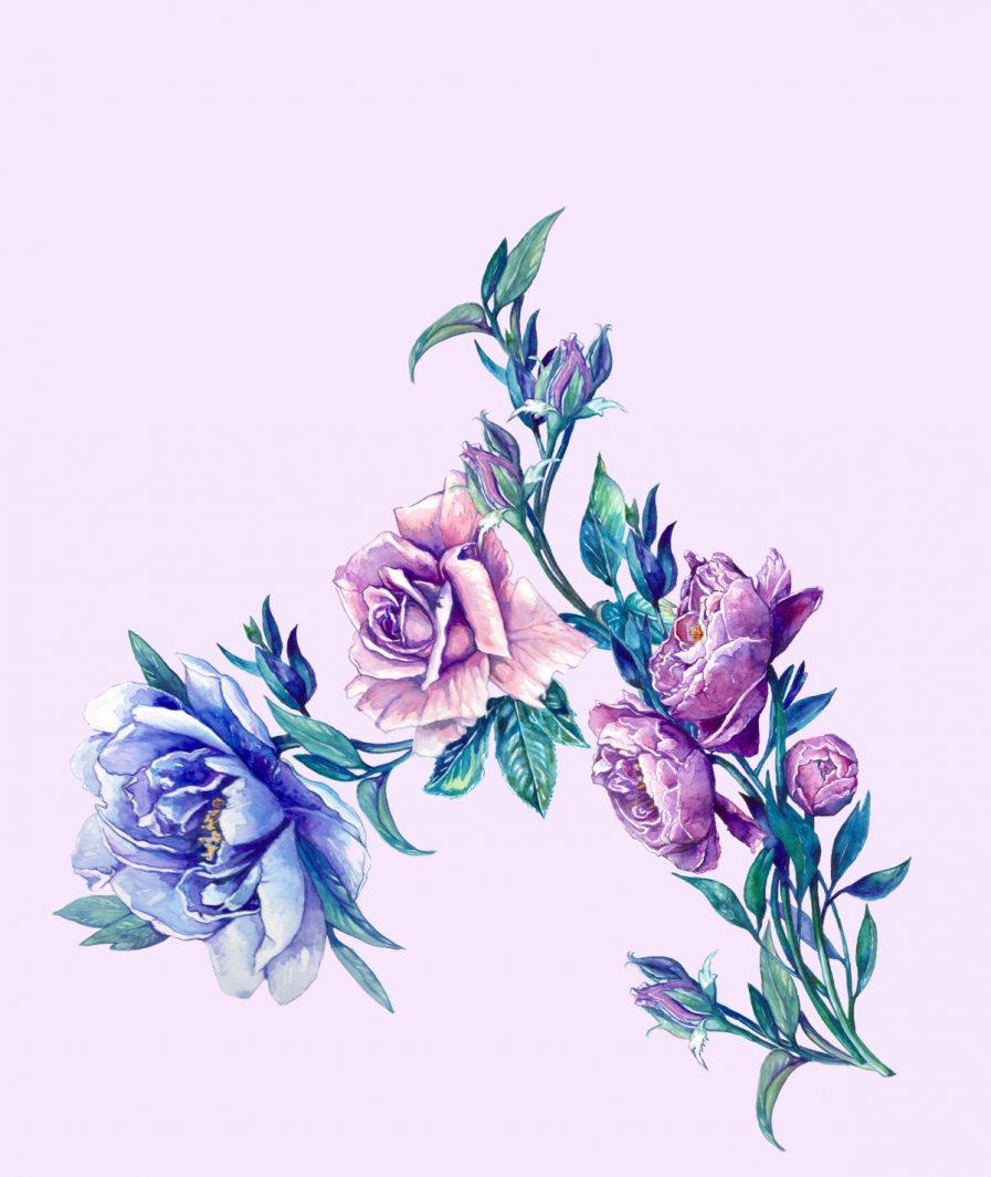 Imprimeu floral Sinestezic pentru rochie de seară Vivid Flowers