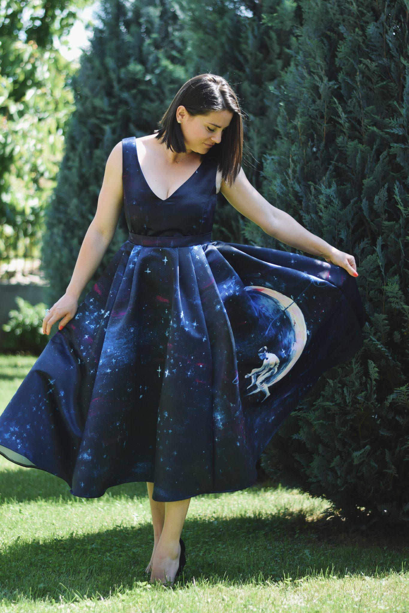 Rochia de ocazie cu imprimeu | Sinestezic | #SinestezicQueens | Alina Nicoleta Ene