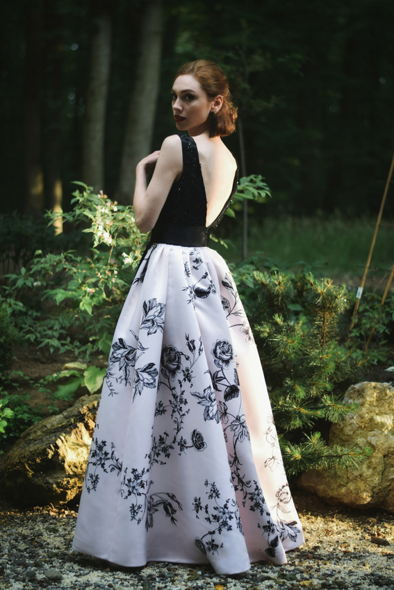 Rochia de seara cu imprimeu | Sinestezic | #SinestezicQueens | Madalina Zlamparet