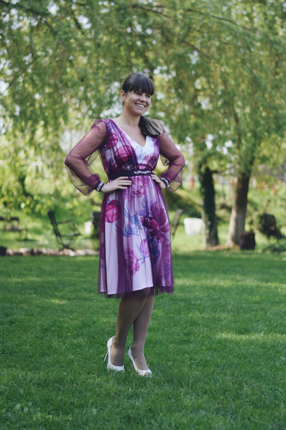 Rochia de seara cu imprimeu | Sinestezic | #SinestezicQueens | Ramona Mihaela Pode