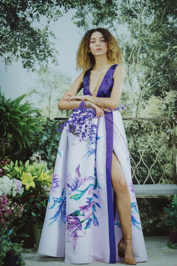 Rochia de seara cu imprimeu | Vivid Flowers | Sinestezic | #SinestezicQueens | Alima Djalo