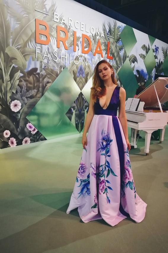 Rochia de seara cu imprimeu | Vivid Flowers | Sinestezic | #SinestezicQueens | Katerina Mak