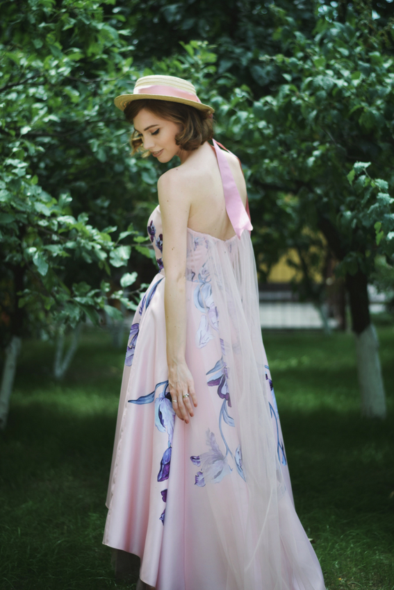 Rochia de zi cu imprimeu Daydream | Sinestezic | #SinestezicQueens | Madalina Zlamparet