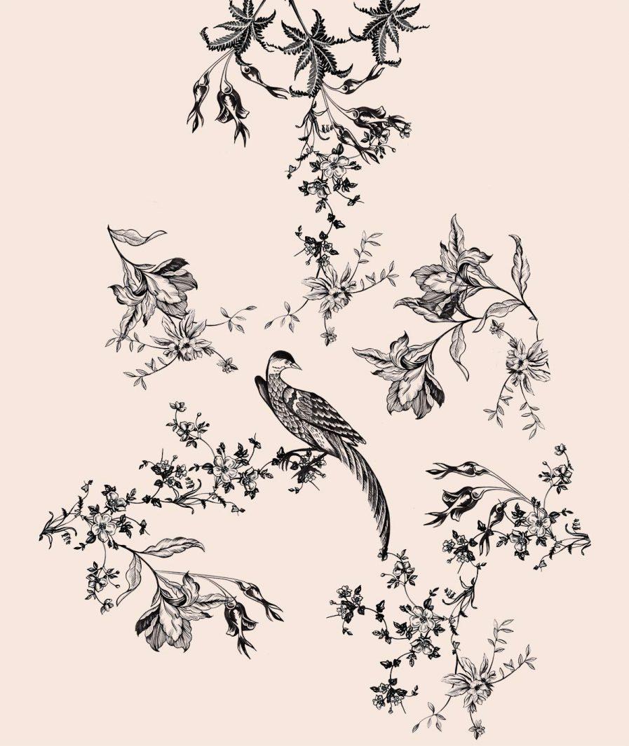 Imprimeu floral Sinestezic pentru rochie de seară Night Dream