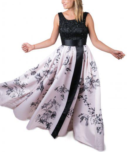Sinestezic | Rochie de seara Night Dream | Rochie de seara lunga cu imprimeu floral